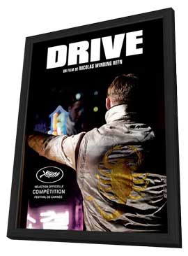 Drive - 11 x 17 Movie Poster - French Style A - in Deluxe Wood Frame