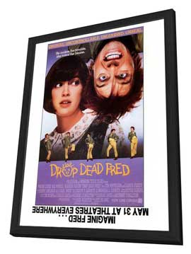 Drop Dead Fred - 27 x 40 Movie Poster - Style B - in Deluxe Wood Frame