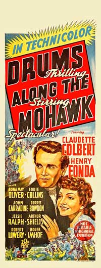 Drums Along the Mohawk - 13 x 30 Movie Poster - Australian Style A