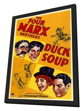 Duck Soup - 11 x 17 Movie Poster - Style A - in Deluxe Wood Frame