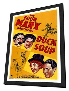 Duck Soup - 27 x 40 Movie Poster - Style A - in Deluxe Wood Frame