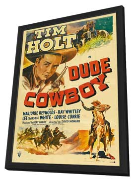 Dude Cowboy - 11 x 17 Movie Poster - Style A - in Deluxe Wood Frame