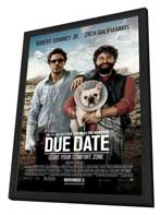 Due Date - 27 x 40 Movie Poster - Style A - in Deluxe Wood Frame