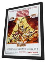 Duel at Diablo - 11 x 17 Movie Poster - Style B - in Deluxe Wood Frame