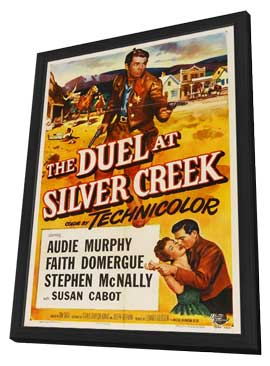 Duel at Silver Creek - 11 x 17 Movie Poster - Style A - in Deluxe Wood Frame