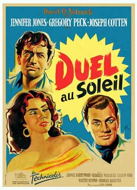Duel in the Sun - 11 x 17 Movie Poster - French Style B