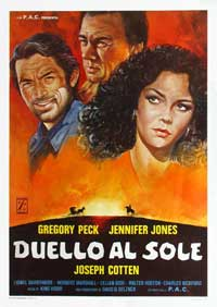 Duel in the Sun - 27 x 40 Movie Poster - Italian Style A