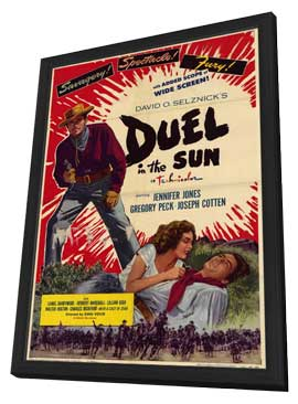 Duel in the Sun - 11 x 17 Movie Poster - Style C - in Deluxe Wood Frame