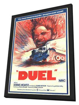 Duel - 27 x 40 Movie Poster - Style A - in Deluxe Wood Frame