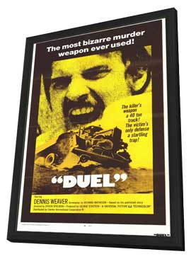 Duel - 11 x 17 Movie Poster - Style A - in Deluxe Wood Frame