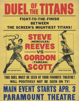 Duel of the Titans - 27 x 40 Movie Poster - Style B