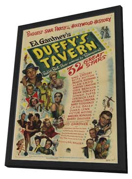 Duffy's Tavern - 11 x 17 Movie Poster - Style A - in Deluxe Wood Frame