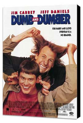Dumb & Dumber - 27 x 40 Movie Poster - Style C - Museum Wrapped Canvas