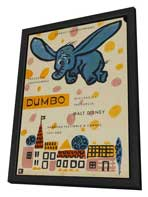 Dumbo - 11 x 17 Movie Poster - Polish Style A - in Deluxe Wood Frame
