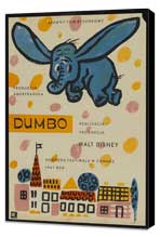 Dumbo - 11 x 17 Movie Poster - Polish Style A - Museum Wrapped Canvas