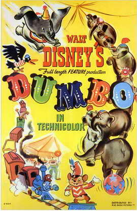 Dumbo - 11 x 17 Movie Poster - Style E