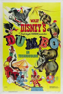 Dumbo - 27 x 40 Movie Poster - Style F