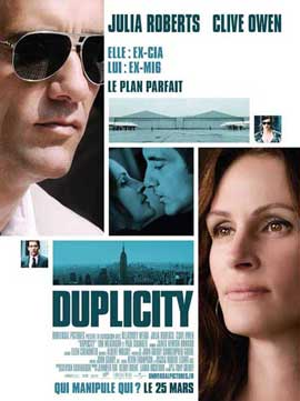Duplicity - 11 x 17 Movie Poster - French Style A