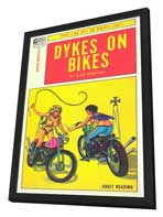 Dykes On Bikes - 11 x 17 Retro Book Cover Poster - in Deluxe Wood Frame