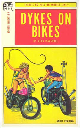 Dykes On Bikes - 11 x 17 Retro Book Cover Poster