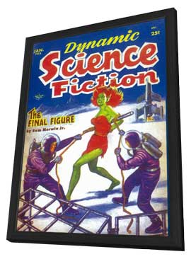Dynamic Science Fiction (Pulp) - 11 x 17 Pulp Poster - Style A - in Deluxe Wood Frame