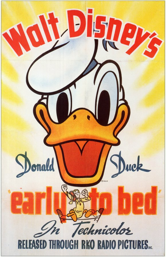 early to bed Early to bed - donald duck: donald has to get up early, but everything seems to be working to keep him awake his loudly ticking alarm clock resists several attempts.