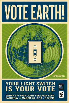 Earth Hour - 11 x 17 Movie Poster - Style A