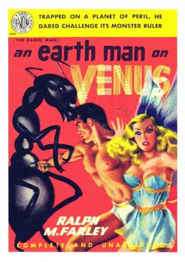 Earth Man on Venus - 11 x 17 Retro Book Cover Poster