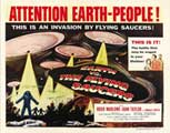 Earth vs. the Flying Saucers - 22 x 28 Movie Poster - Half Sheet Style A