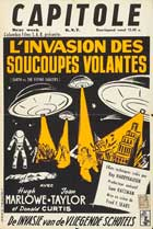 Earth vs. the Flying Saucers - 11 x 17 Movie Poster - Belgian Style A