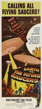 Earth vs. the Flying Saucers - 14 x 36 Movie Poster - Insert Style A