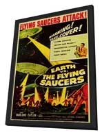 Earth vs. the Flying Saucers - 11 x 17 Movie Poster - Style B - in Deluxe Wood Frame