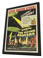 Earth vs. the Flying Saucers - 27 x 40 Movie Poster - Style B - in Deluxe Wood Frame