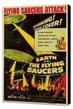 Earth vs. the Flying Saucers - 11 x 17 Movie Poster - Style B - Museum Wrapped Canvas