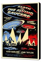 Earth vs. the Flying Saucers - 27 x 40 Movie Poster - Style A - Museum Wrapped Canvas