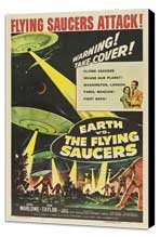 Earth vs. the Flying Saucers - 27 x 40 Movie Poster - Style B - Museum Wrapped Canvas