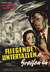 Earth vs. the Flying Saucers - 11 x 17 Movie Poster - German Style A
