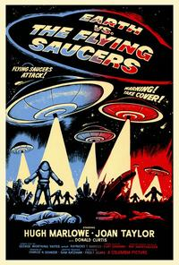 Earth vs. the Flying Saucers - 43 x 62 Movie Poster - Bus Shelter Style A