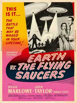 Earth vs. the Flying Saucers - 11 x 17 Movie Poster - Style C