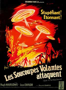 Earth vs. the Flying Saucers - 11 x 17 Movie Poster - French Style A