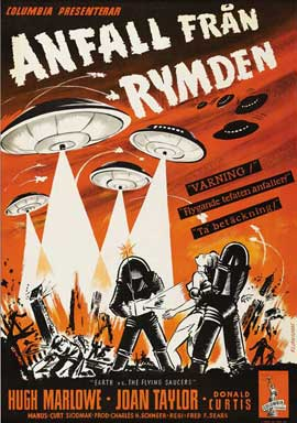 Earth vs. the Flying Saucers - 27 x 40 Movie Poster - Swedish Style A
