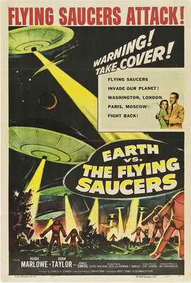 Earth vs. the Flying Saucers - 27 x 40 Movie Poster - Style B