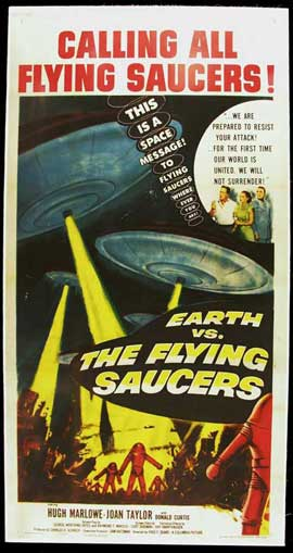 Earth vs. the Flying Saucers - 15 x 30 Movie Poster - Style A