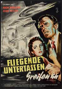 Earth vs. the Flying Saucers - 27 x 40 Movie Poster - German Style A