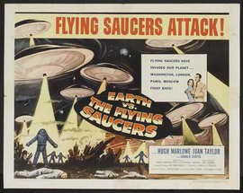 Earth vs. the Flying Saucers - 22 x 28 Movie Poster - Half Sheet Style B