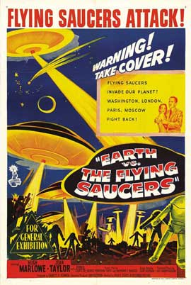 Earth vs. the Flying Saucers - 27 x 40 Movie Poster - Australian Style A