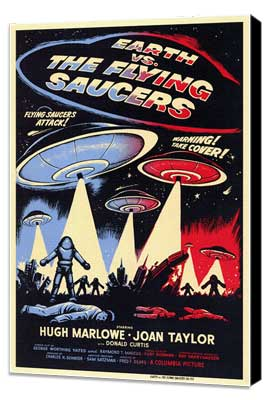 Earth vs. the Flying Saucers - 11 x 17 Movie Poster - Style A - Museum Wrapped Canvas