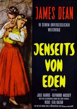 East of Eden - 27 x 40 Movie Poster - German Style A
