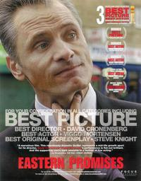 Eastern Promises - 11 x 17 Movie Poster - Style C