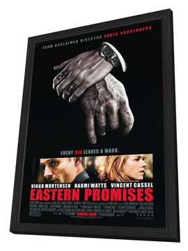 Eastern Promises - 27 x 40 Movie Poster - Style A - in Deluxe Wood Frame
